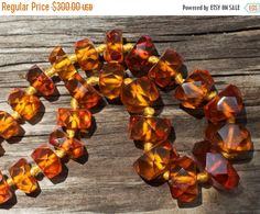 ON SALE Vintage Baltic honey amber necklace Traditional