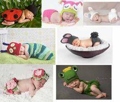 Newborns Menino E Meninas Conjuntos E Toucas - Art Crochê - R$ 52,90