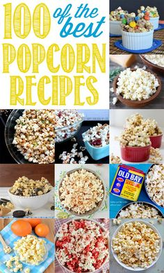 March 2015 is NATIONAL POPCORN LOVERS DAY! Many of us love popcorn. So, it only makes sense that there should be a special day just for popcorn lovers. Ultimate Popcorn Recipes Round Up - 100 of the BEST Sweet and Savory Popcorn Recipes! Yummy Snacks, Delicious Desserts, Healthy Snacks, Snack Recipes, Dessert Recipes, Cooking Recipes, Yummy Food, Dessert Healthy, Oreo Dessert