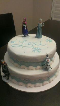 Disney Frozen cake, no fondant