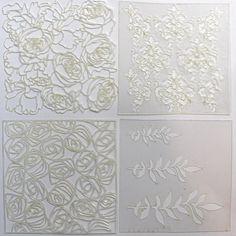 NőiCsizma | Virágözön stencilcsomag Stencils, Templates, Stenciling, Sketches
