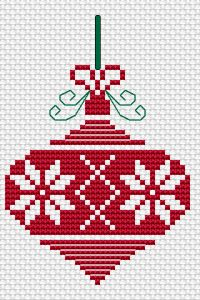 Christmas Ornament free cross stitch pattern