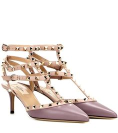 Valentino Rockstud Leather Kitten-heel Pumps | MYTHERESA USA saved by #ShoppingIS
