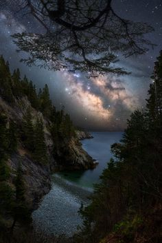 Milky Way rising over the coast of Northern - Nature/Landscape Pictures National Photography, Nature Photography, Travel Photography, Beautiful Places, Beautiful Pictures, Beautiful Scenery, Northern Maine, Galaxy Images, Night Sky Wallpaper