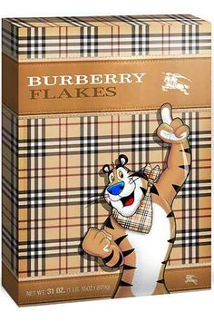 Burberry Brekky -ShazB ... {Designer Breakfast Foods - The Cereal Couture Series Gives Morning Meals a Luxury Lift | via The House of Beccaria via trendhunter}