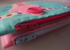 Cute easy sew felt pouches