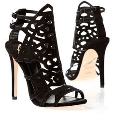 Pre-owned Brian Atwood Heels ($198) ❤ liked on Polyvore featuring shoes, heels, sandals, high heels, sapatos, black, pumps, apparel & accessories, dress shoes and black ankle strap shoes