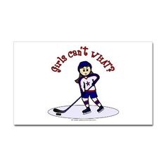 Shop Light Girls Hockey Player iPhone Case created by girlscantwhat.