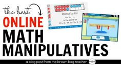 Math Manipulatives offer students a real, hands-on way to explore a mathematical concept, build their own meaning, and help develop number sense! Math Strategies, Math Resources, Math Activities, Multiplication Strategies, Math Fractions, Math Games, Real Life Math, Math Manipulatives, Numeracy