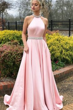 bab5a73360e O-Neck Satin Sashes A-Line Slim Fit Prom Dress. vanitypotionboutique · Prom  Dress. Vanity Potion boutique