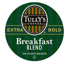 Breakfast Blend Extra Bold from Tully's Coffee on 10.31.12: Drank as my morning cup of coffee.  I was really hoping it was going to be as good as Green Mountain's Breakfast Blend, but it just wasn't.  Not bad, but just so-so.