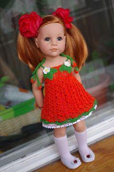 01ga / Ямоггу. Каталог мастеров и авторов кукол, игрушек, кукольной одежды и аксессуаров / Бэйбики. Куклы фото. Одежда для кукол Knitting Dolls Clothes, Crochet Doll Clothes, Knitted Dolls, Doll Clothes Patterns, Doll Patterns, Baby Knitting, Crochet Baby, American Girl Crochet, Crochet Doll Dress