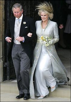 2005.  camilla parker bowles wedding | camilla parker bowles changed into a long wedding dress for the  prayer service that followed the civil service.