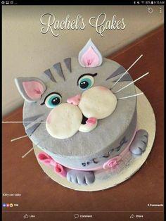 Birthday Cake For Cat, Birthday Cake For Husband, Funny Birthday Cakes, Unique Birthday Cakes, Cookie Cake Birthday, Birthday Cake Decorating, Birthday Kids, Homemade Birthday, Peanut Butter Birthday Cake