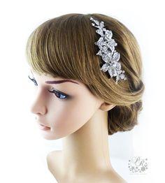 Wedding Hair Comb Rhinestone Bridal hair comb by PureRainDesigns, $28.00
