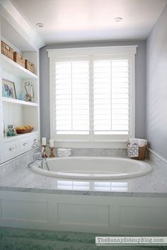 Master Bathroom Shelves/Tub April 20, 2015 by Erin 54 Comments
