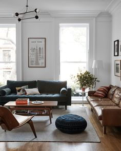 The gorgeous family home of Joanna Goddard of A Cup of Joe! Spotted: our Rose Li Chandelier!