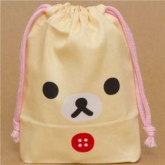 white Korilakkuma bear bento pouch lunch bag