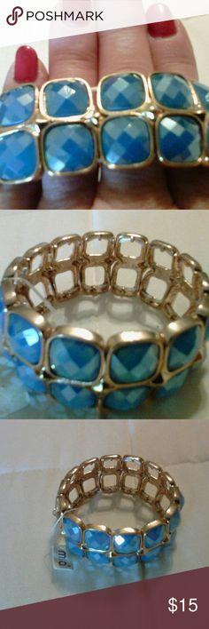 Bracelet NWT beautiful blue and gold Jewelry Bracelets