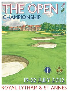 Lee Wybranski's latest work - the 18th at Royal Lytham. Lee is in the Merchandise Tent signing the poster this week.