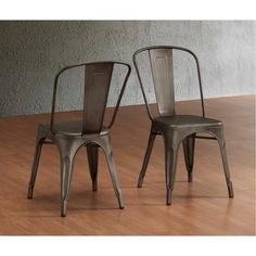 Metal industrial style chairs! Perfect for outdoors and indoors!