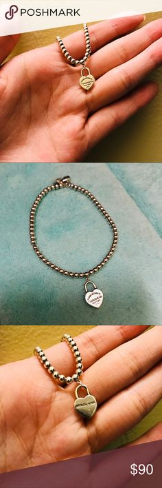 "Tiffany & Co. Bead Bracelet 7"" Gently worn Tiffany&Co bead bracelet! Perfect for any occasion whether you're a student or worker!! Absolutely gorgeous and very clean :)   Price includes original box and pouch! Tiffany & Co. Jewelry Bracelets"