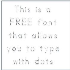 Free ABC Print Dotted Font - Fonts4Teachers - TeachersPayTeachers.com