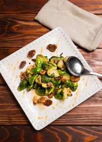 Brussel sprouts with fig honey, my Hometown Magazine recipe!