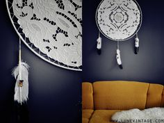 lacy dream catcher. THIS i can get behind.