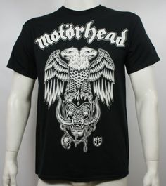 Authentic-MOTORHEAD-Hiro-Double-Eagle-Logo-Slim-Fit-T-Shirt-S-M-L-XL-XXL-NEW