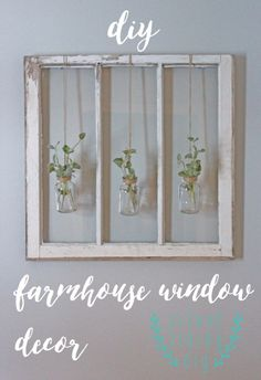 DIY Farmhouse Style Decor Ideas for the Bedroom - DIY Farmhouse Window Decor - Rustic Farm House Ideas for Furniture Paint Colors Farm House Decoration for Home Decor in The Bedroom - Wall Art Rugs Nightstands Lights and Room Accessories Farmhouse Bedroom Decor, Farmhouse Style Decorating, Farmhouse Ideas, Rustic Farmhouse, Bedroom Rustic, Bedroom Vintage, Rustic Cafe, Rustic Restaurant, Farmhouse Wall Art