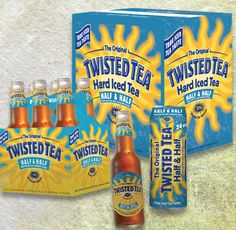 Twisted Tea -- half & half. I LOVE YOU TWISTED TEA