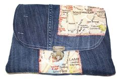 Tablet+PC+Hülle+Upcycling+Jeans+blau++London+von+MarionGreRecycling