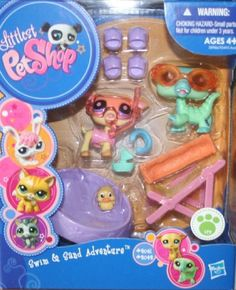 Littlest Pet Shop Swim and Sand Adventure Gift Pack - Includes Pet and - Ages 4 and Up by Mattel, I love this its so under the sea! Lps Littlest Pet Shop, Little Pet Shop Toys, Little Pets, Toys For Girls, Kids Toys, Lps Sets, Lps For Sale, Lps Accessories, Barbie Birthday