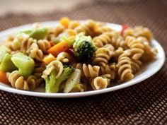 """""""Creamy"""" pasta and veggies that is super good and easy!  My kids don't like it, but we like it enough to keep making anyway!"""