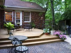 ranch house deck ideas french doors deck ranch style house