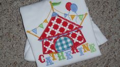 Circus Tent Personalized applique shirt by KidsAtelier on Etsy, $22.99