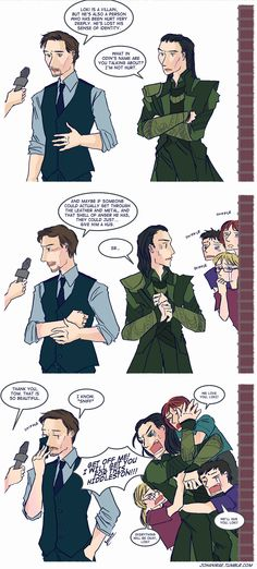 the difference between Loki and Tom Hiddleston. OMG this is epic ....