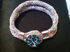 Purple, Blue, and Pink Leopard Kumihimo Bracelet on Etsy, $18.00