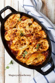 Baked spinach & ricotta conchiglioni | Zapiekane muszle makaronowe nadziewane ricottą ze szpinakiem