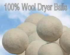 "100% Wool Dryer Balls - Set of THREE with FREE little green bag by A Little Green Bee. Save 7 Off!. $13.99. This lot contains Three 100% HANDMADE 100% Wool dryer balls. These Dryer Balls--100% wool down to the core. They are completely made out of wool, inside and out. We use 100% wool roving to form the ball. They are about the size of a tennis ball and will shrink slightly over time. They are ""All-Natural"". All natural means that this product is 100% free from any artificial preservatives…"
