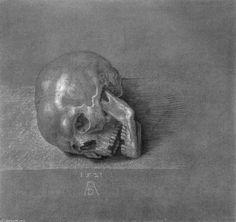 Skull by Albrecht Durer (1471-1528, Germany)