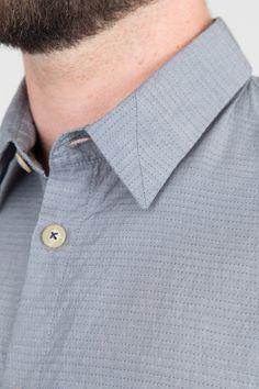 Pyjama Shirt - Navy Mini Dot on Grey