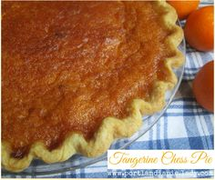 a southern classic of sweet tangerine deliciousness baked in a flaky buttery crust, & topped with tangerine-zested whipped cream! No Bake Pies, No Bake Cake, My Recipes, Gourmet Recipes, Tangerine Recipes, Summer Pie, Chess Pie, Classic Desserts, Sweet Pie