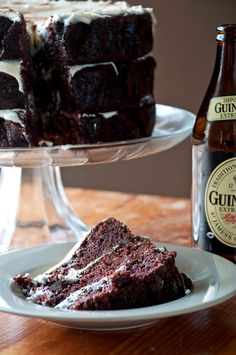 Chocolate Guiness Cake. Someone brought this to work today. SO good.