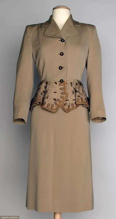 Augusta Auctions, April 17, 2013 - NYC: Beaded Cocktail Suit, 1940s
