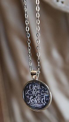 You Are So Loved Chalkboard Necklace