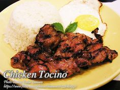 Are you looking for tasty heavy breakfast with pork tocino and fried rice with fried egg on the side? But you are pondering the guilt of eating pork meat again. Cheesy Recipes, Meat Recipes, Chicken Recipes, Cooking Recipes, Recipies, Healthy Chicken, Filipino Dishes, Filipino Recipes, Asian Recipes
