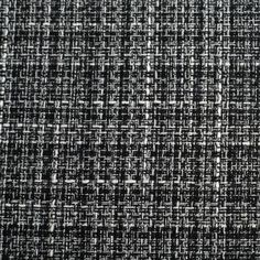 Black/White Cotton-Polyester Tweed