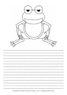 Frog story paper - lined